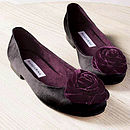 Black Satin Rosette Pumps