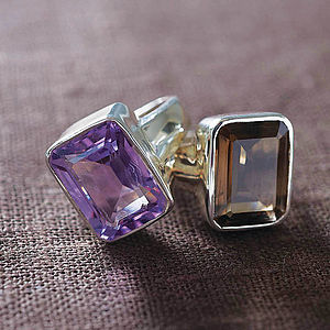 Gemstone And Sterling Cocktail Ring - rings