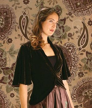 Tea-Jacket In Silk Velvet