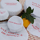 Set Of Six Christmas Cotton Bowl Covers