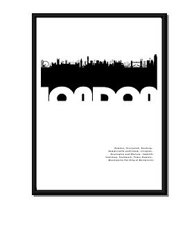 Personalised London Skyline Poster Or Canvas