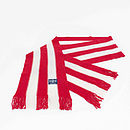 Vertical Cashmere Football Scarf: Red & White