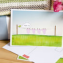 Pink Girl Thank You Cards