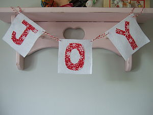 'Joy' Christmas Garland
