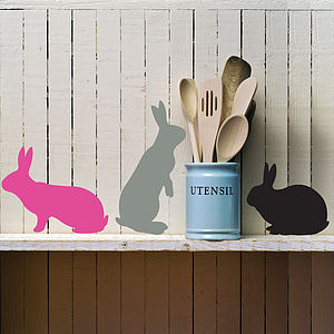 Three Bunnies Wall Stickers - easter decorations