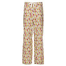 Leaf Organic Trouser - Crimson/Gold Front View