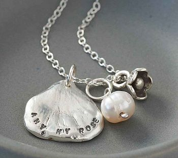 Personalised Petal Charm Necklace