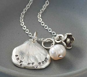 Personalised Petal Charm Necklace - necklaces & pendants