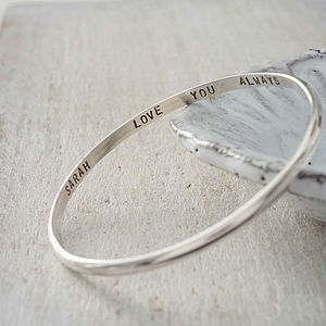 Personalised Script Bangle - bracelets & bangles