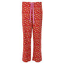 Midnight Garden Pyjama Trouser in Ruby