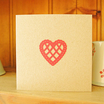 Country Heart Card - red