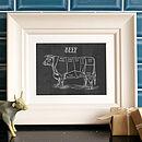 Personalised Beef Butchers Print