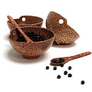 Coco Wood Condiment Set