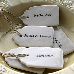 'Handwritten' Porcelain Gift Labels