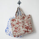 Bird Linen Shoulder Bag