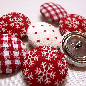 Stocking Filler Fabric Christmas Buttons - cards & wrap