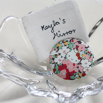 Personalised pocket mirror - Hello Kitty