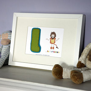 Boy's Personalised Alphabet Nursery Frame