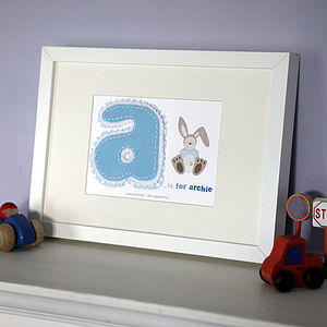Boy's Personalised Alphabet Baby Frame