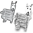Shaped Silver Cufflinks From YOUR Child's Art