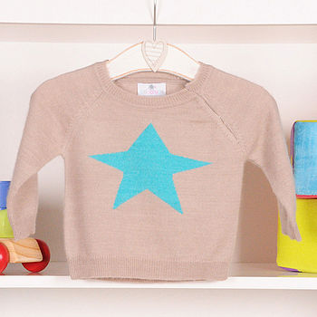 Linen with turquoise star
