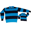 Father & Son matching Rugby Shirts in pure Cashmere