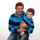 Cashmere Striped Rugby Shirt show as Father & Son