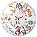 Personalised Teddies Clock GIRLS