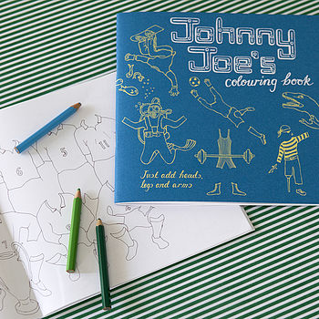 Johnny Joe colouring book