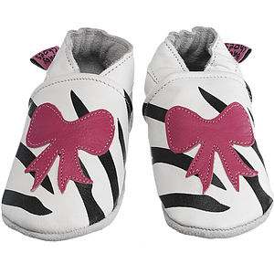 Handmade Bow Soft Leather Baby Shoes