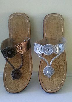 Ethical Leather Button Sandal