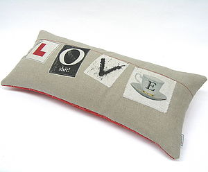 Learning About LOVE Cushion - cushions