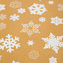 Brown Sheet of Recycled Snowflakes Christmas Gift Wrap