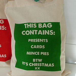 'This Bag Contains' Christmas Bag