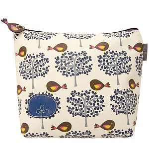 Bird Tree Wash Bag - cosmetic & wash bags