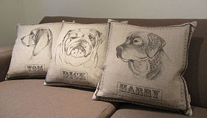 Bulldog, Beagle, Retriever Dog Cushion