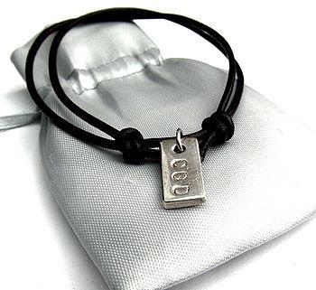 Personalised Silver/Gold Bullion Bracelet
