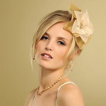 Mia Flower Headpiece - Gold (two tone)