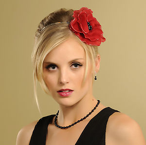 Handmade Poppy Flower Headpiece