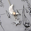 Moon And The Stars Silver Pendant