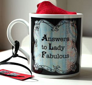 Answers To Lady Fabulous Mug - mugs