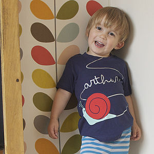 Personalised Children's Snail T Shirt