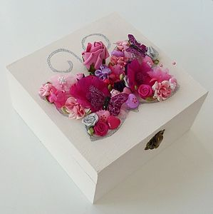 Personalised Butterfly Keepsake Box - storage & organisers