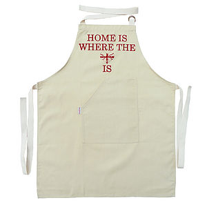 Home Is Where The Heart Is Apron - gifts for the home
