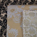 Black & Gold Flower, Gold & Silver Rose & Cream & Gold Gift Wrap