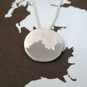 Personalised Coastline Pendant - necklaces & pendants