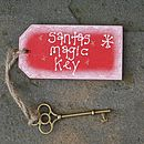 Handmade Wooden Santa's Magic Key