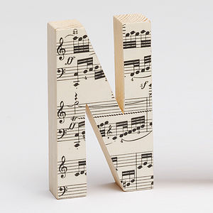 Vintage Music Letters - room decorations