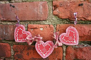 Handmade Heart And Homespun Swag - garlands & bunting