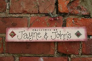 Personalised Handmade Christmas Sign - christmas home accessories